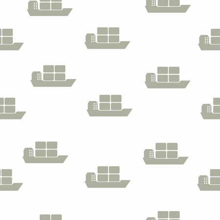 seamless background: ship Vector