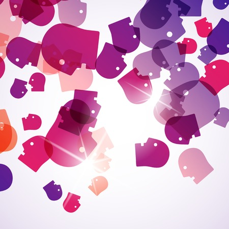 abstract background: head Vector