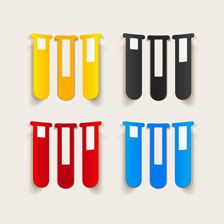 sterilization: realistic design element: tube Illustration