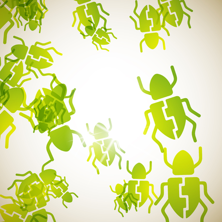 abstract background: beetle Illustration
