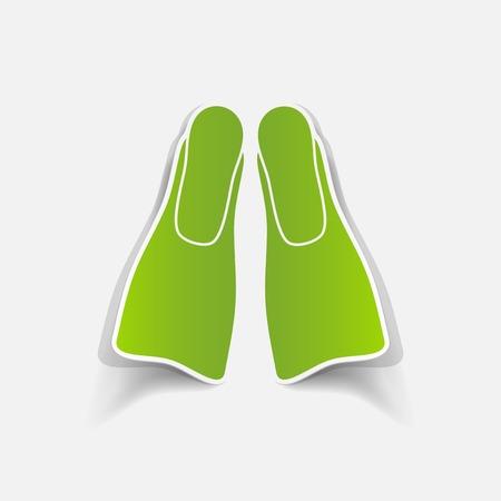 flipper: r�aliste �l�ment de design: flipper Illustration