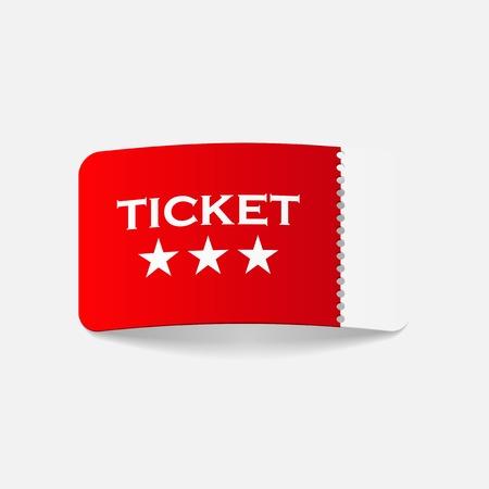 realistic design element: ticket Vector