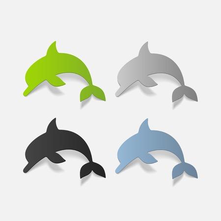 viviparous: realistic design element: dolphin Illustration