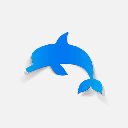 viviparous: realistic design element: dolphin Illustration