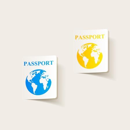 citizenship: realistic design element: passport Illustration