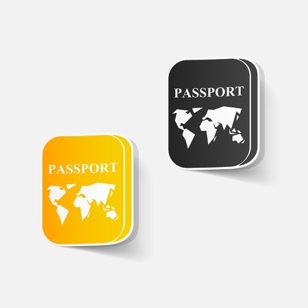 realistic design element: passport Vector