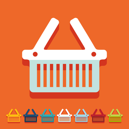 Flat design: basket Vector