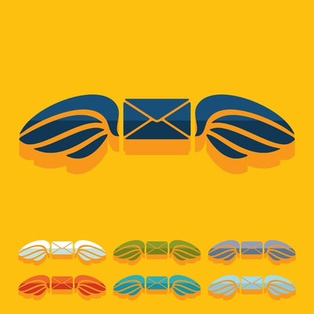 Flat design: envelope Vector