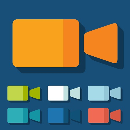Flat design: video Vector