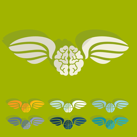 Flat design: brain Vector