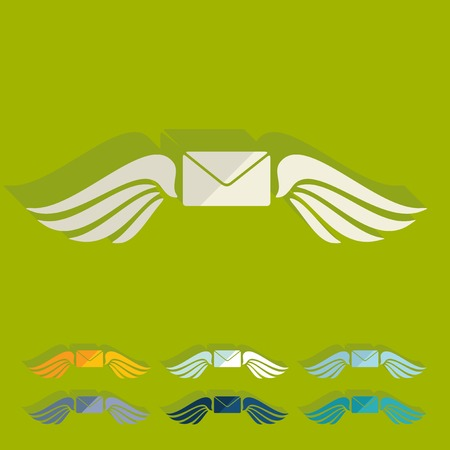 chastity: Flat design: envelope