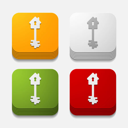 it is a square button in modern style Vector