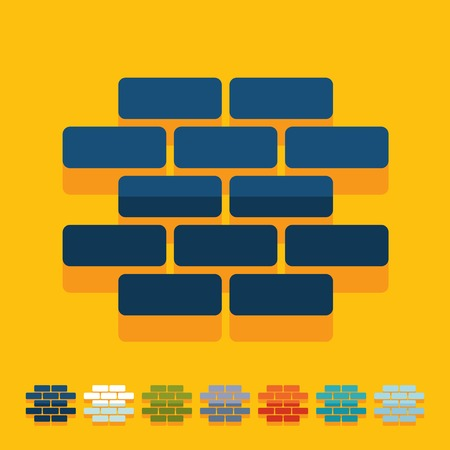 concrete blocks: Flat design in modern style Illustration
