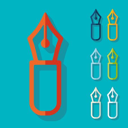 Flat design in modern style Illustration