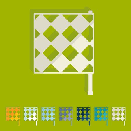 linesman: Flat design  linesman flag