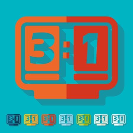 Flat design: score board Vector
