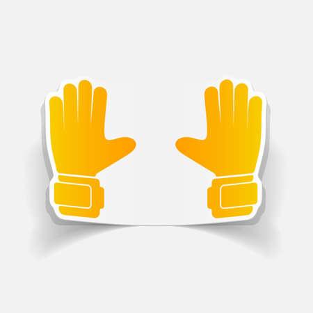 realistic design element: gloves Vector