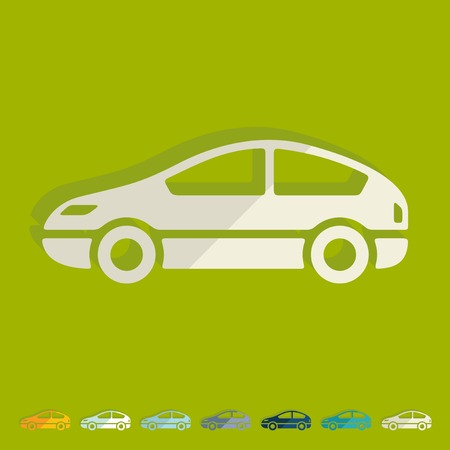 injector: Flat design: car