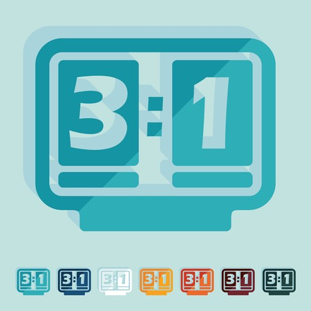 Flat design: score board Vector