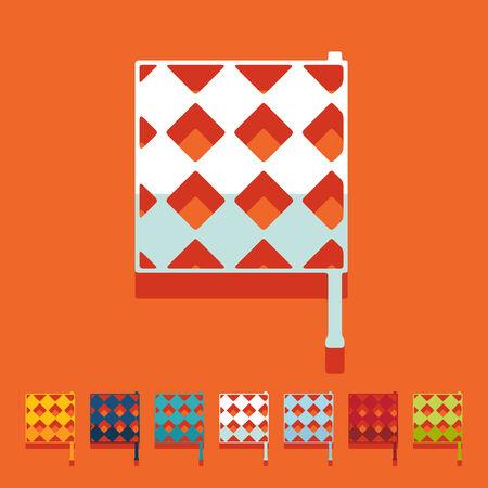 linesman: Flat design: linesman flag