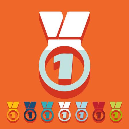 Flat design: medal Vector