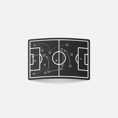 realistic design element: playing field Vector