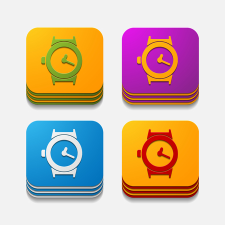 watchmaker: square button: watch Illustration