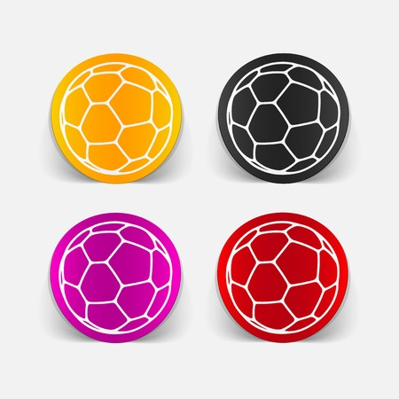 leather goods: realistic design element: ball