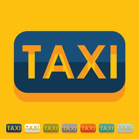 Diseño plano: de taxi Vectores