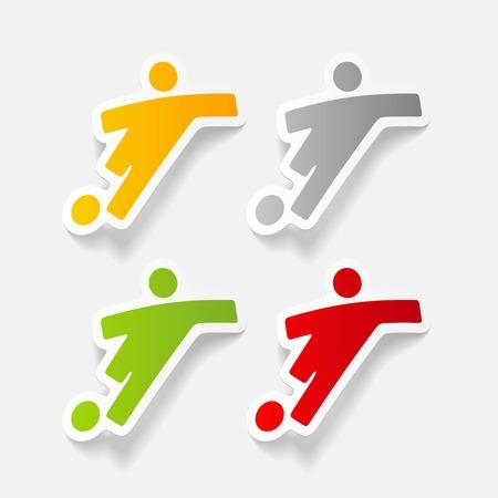 striker: realistic design element: football player