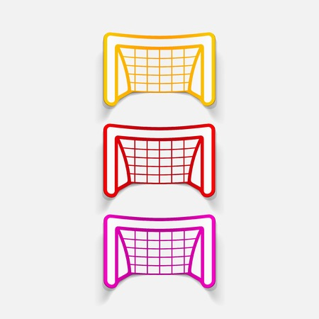realistic design element: gate Vector