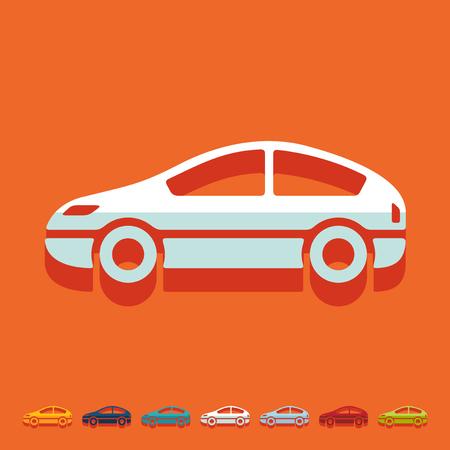 headlamp: Flat design: car