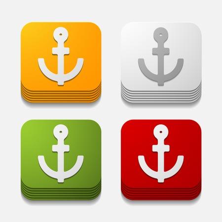 square button: anchor