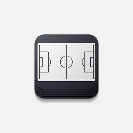 playing field: square button: playing field Illustration