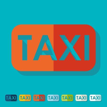 taxista: Dise�o plano: de taxi Vectores