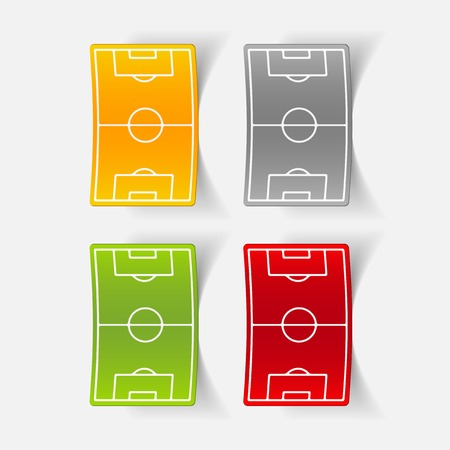 playing field: realistic design element: playing field Illustration