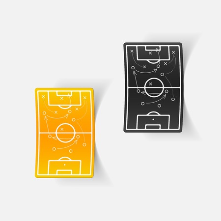 showground: realistic design element: playing field Illustration