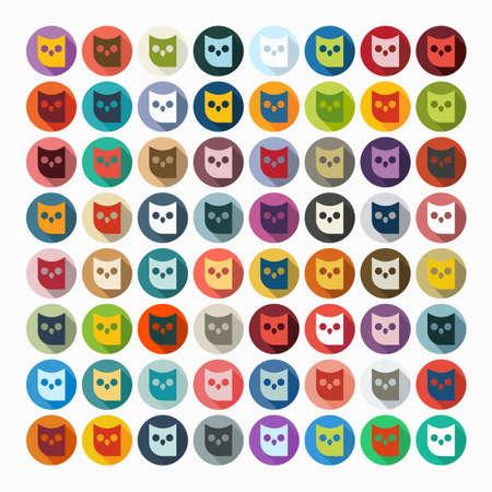 Flat design: owl Vector