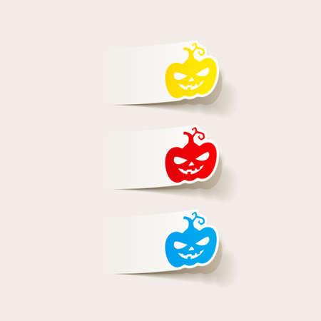 realistic design element: pumpkin Vector