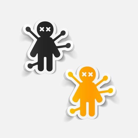 Voodoo doll: realistic design element: voodoo Doll