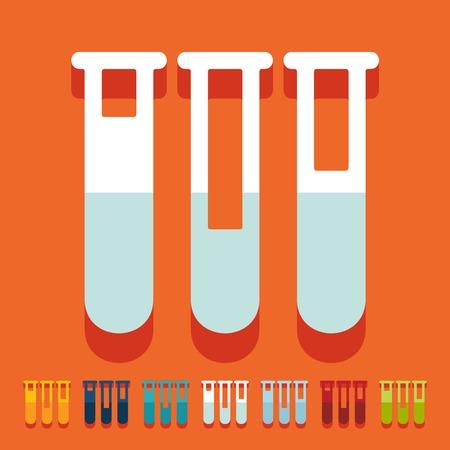 sterilization: Flat design: tube