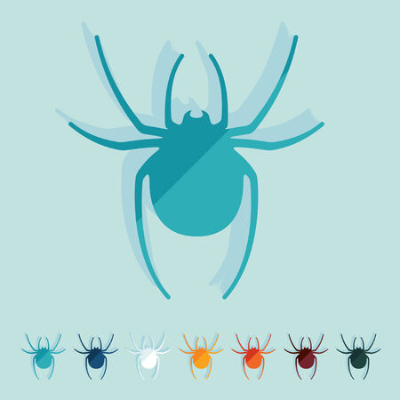 Flat design: spider Vector