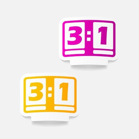 showground: realistic design element: score board