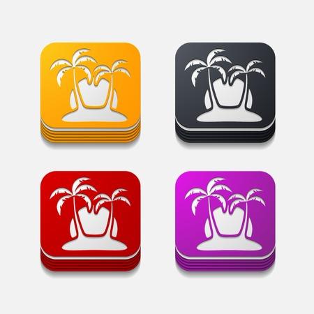 insular: square button: palm