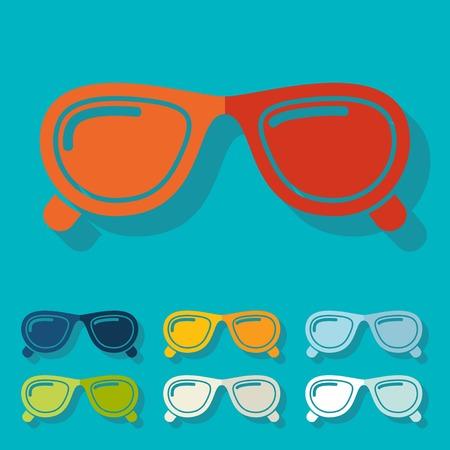 myopia: Flat design: sunglasses