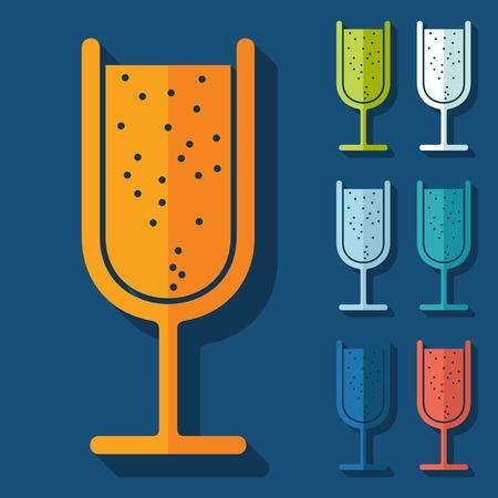spirituous: Flat design: cocktail
