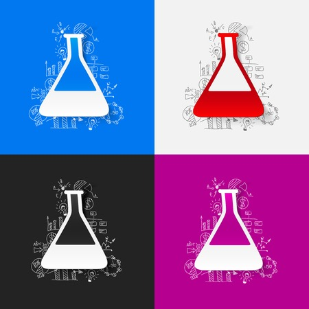 ampoule: Drawing business formulas: tube