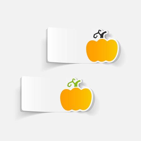 realistic design element: pumpkin Illustration