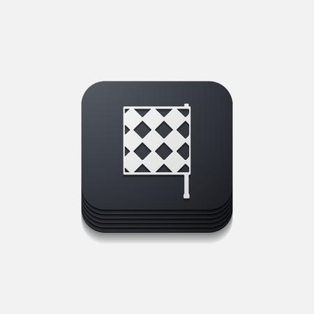 linesman: square button: linesman flag