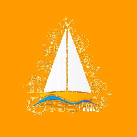Drawing business formulas: sailboat Vector